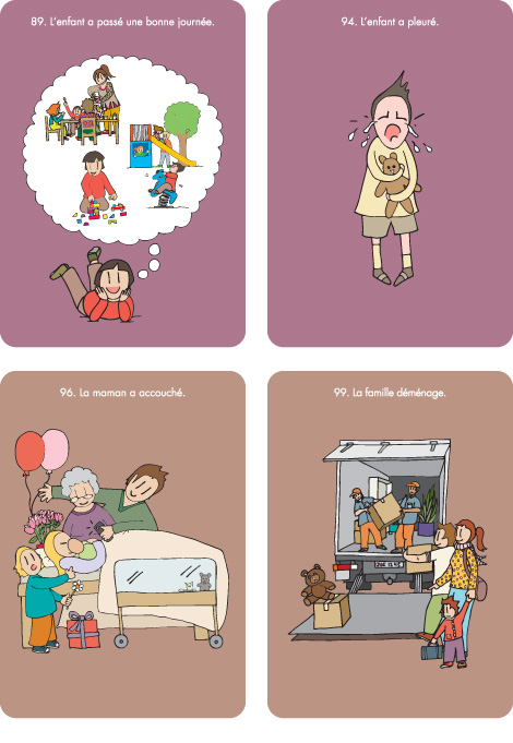 cartes émotions et situations familiales